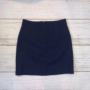 J. Crew Navy Wool Miniskirt